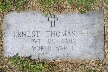 EBY (VETERAN WWII), ERNEST THOMAS - Benton County, Arkansas | ERNEST THOMAS EBY (VETERAN WWII) - Arkansas Gravestone Photos