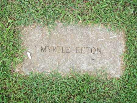 ECTON, MYRTLE - Benton County, Arkansas | MYRTLE ECTON - Arkansas Gravestone Photos