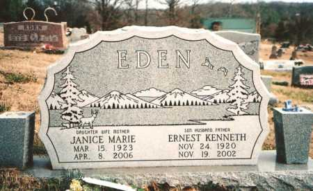 EDEN, ERNEST KENNETH - Benton County, Arkansas | ERNEST KENNETH EDEN - Arkansas Gravestone Photos