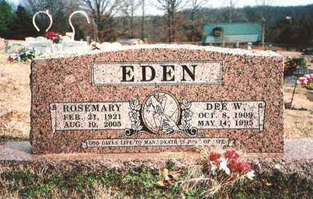 EDEN, ROSEMARY - Benton County, Arkansas | ROSEMARY EDEN - Arkansas Gravestone Photos