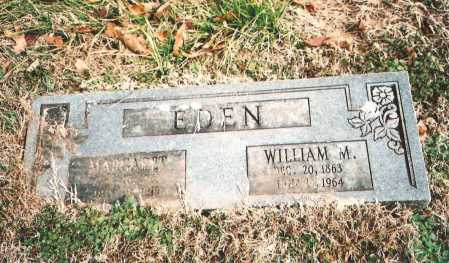EDEN, WILLIAM M. - Benton County, Arkansas   WILLIAM M. EDEN - Arkansas Gravestone Photos