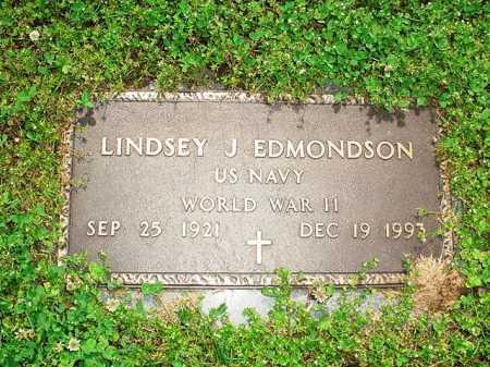 EDMONDSON (VETERAN WWII), LINDSEY J - Benton County, Arkansas | LINDSEY J EDMONDSON (VETERAN WWII) - Arkansas Gravestone Photos