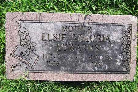 EDWARDS, ELSIE VELORIA - Benton County, Arkansas | ELSIE VELORIA EDWARDS - Arkansas Gravestone Photos