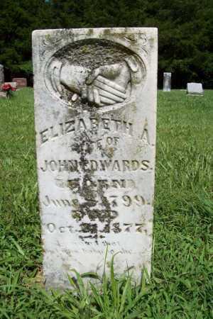 EDWARDS, ELIZABETH A. - Benton County, Arkansas   ELIZABETH A. EDWARDS - Arkansas Gravestone Photos