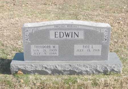 EDWIN, THEODORE W. - Benton County, Arkansas   THEODORE W. EDWIN - Arkansas Gravestone Photos