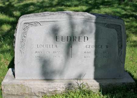 ELDRED, GEORGE W. - Benton County, Arkansas | GEORGE W. ELDRED - Arkansas Gravestone Photos