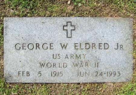 ELDRED, JR (VETERAN WWII), GEORGE W - Benton County, Arkansas | GEORGE W ELDRED, JR (VETERAN WWII) - Arkansas Gravestone Photos