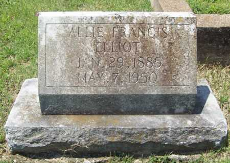 ELLIOT, ALLIE FRANCIS - Benton County, Arkansas | ALLIE FRANCIS ELLIOT - Arkansas Gravestone Photos