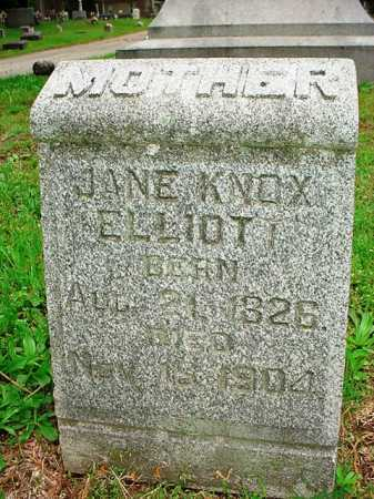 KNOX ELLIOTT, JANE - Benton County, Arkansas | JANE KNOX ELLIOTT - Arkansas Gravestone Photos