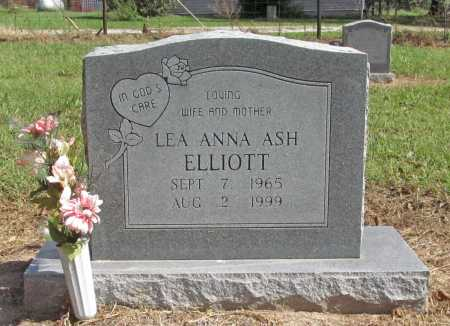 ASH ELLIOTT, LEA ANNA - Benton County, Arkansas | LEA ANNA ASH ELLIOTT - Arkansas Gravestone Photos