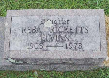 ELVINS, REBA - Benton County, Arkansas   REBA ELVINS - Arkansas Gravestone Photos