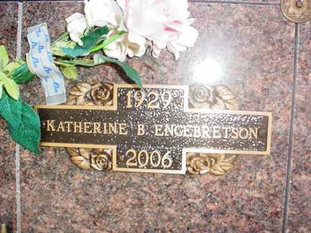 CLARK ENGEBRETSON, KATHERINE B. - Benton County, Arkansas   KATHERINE B. CLARK ENGEBRETSON - Arkansas Gravestone Photos