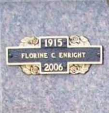 "ENRIGHT, FLORINE C. ""FLO"" - Benton County, Arkansas | FLORINE C. ""FLO"" ENRIGHT - Arkansas Gravestone Photos"