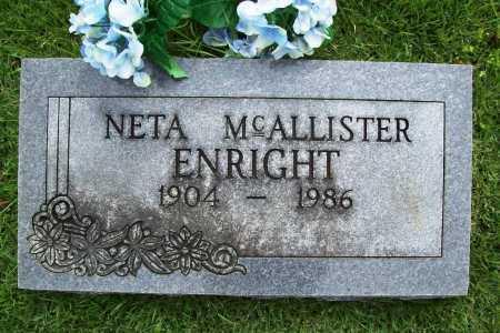 MCALLISTER ENRIGHT, NETA - Benton County, Arkansas | NETA MCALLISTER ENRIGHT - Arkansas Gravestone Photos