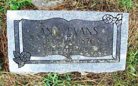 EVANS, ANN - Benton County, Arkansas | ANN EVANS - Arkansas Gravestone Photos