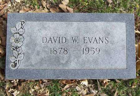 EVANS, DAVID W. - Benton County, Arkansas | DAVID W. EVANS - Arkansas Gravestone Photos