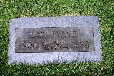 EVANS, DOT - Benton County, Arkansas   DOT EVANS - Arkansas Gravestone Photos
