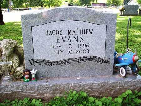 EVANS, JACOB MATTHEW - Benton County, Arkansas | JACOB MATTHEW EVANS - Arkansas Gravestone Photos