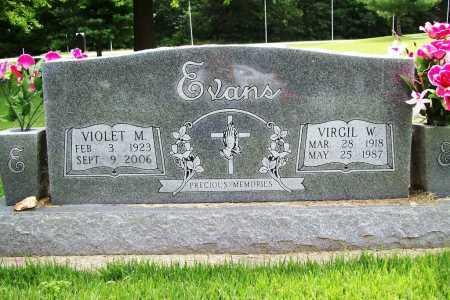 EVANS, VIRGIL W. - Benton County, Arkansas | VIRGIL W. EVANS - Arkansas Gravestone Photos