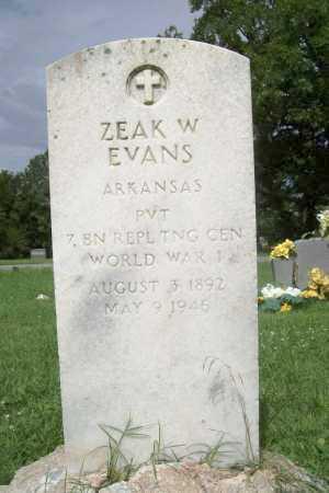 EVANS (VETERAN WWI), ZEAK W - Benton County, Arkansas | ZEAK W EVANS (VETERAN WWI) - Arkansas Gravestone Photos