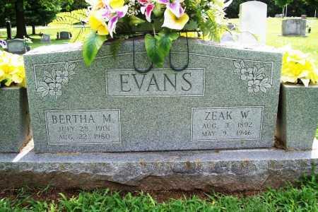 EVANS, ZEAK W. - Benton County, Arkansas | ZEAK W. EVANS - Arkansas Gravestone Photos