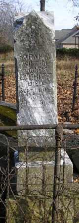 EVERETT, SARAH A - Benton County, Arkansas   SARAH A EVERETT - Arkansas Gravestone Photos
