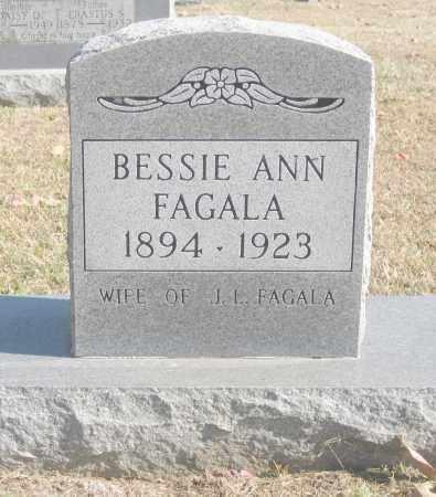 FAGALA, BESSIE ANN - Benton County, Arkansas | BESSIE ANN FAGALA - Arkansas Gravestone Photos