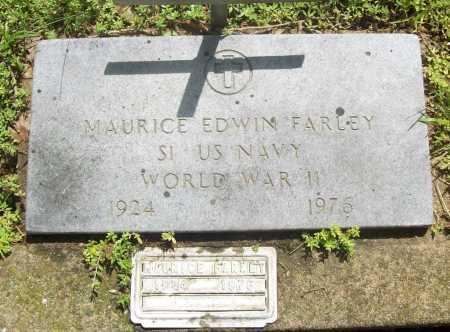 FARLEY (VETERAN WWII), MAURICE EDWIN - Benton County, Arkansas   MAURICE EDWIN FARLEY (VETERAN WWII) - Arkansas Gravestone Photos