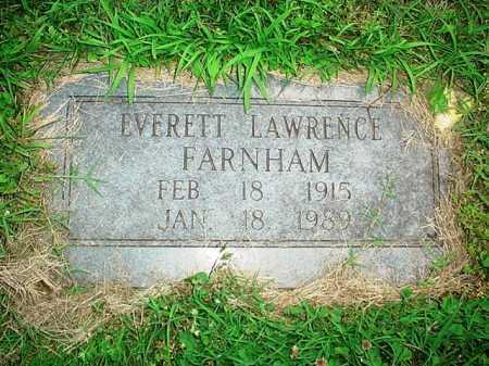 FARNHAM, EVERETT LAWRENCE - Benton County, Arkansas | EVERETT LAWRENCE FARNHAM - Arkansas Gravestone Photos