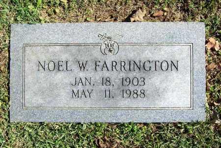 FARRINGTON, NOEL W. - Benton County, Arkansas   NOEL W. FARRINGTON - Arkansas Gravestone Photos