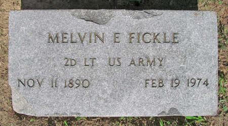 FICKLE (VETERAN), MELVIN E - Benton County, Arkansas   MELVIN E FICKLE (VETERAN) - Arkansas Gravestone Photos
