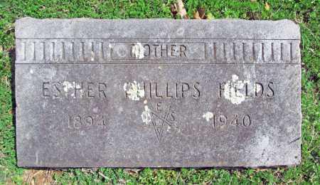 PHILLIPS FIELDS, ESTHER - Benton County, Arkansas | ESTHER PHILLIPS FIELDS - Arkansas Gravestone Photos