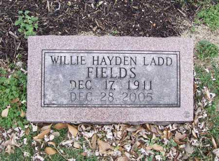 FIELDS, WILLIE HAYDEN - Benton County, Arkansas   WILLIE HAYDEN FIELDS - Arkansas Gravestone Photos