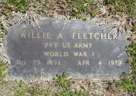 FLETCHER (VETERAN WWI), WILLIE A - Benton County, Arkansas | WILLIE A FLETCHER (VETERAN WWI) - Arkansas Gravestone Photos