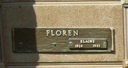 FLOREN, ELAINE - Benton County, Arkansas | ELAINE FLOREN - Arkansas Gravestone Photos