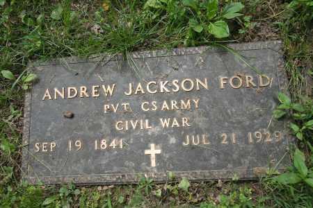 FORD (VETERAN CSA), ANDREW JACKSON - Benton County, Arkansas | ANDREW JACKSON FORD (VETERAN CSA) - Arkansas Gravestone Photos