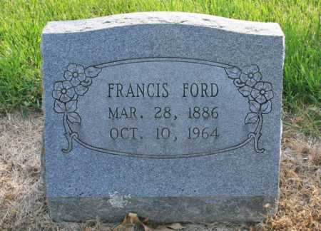 FORD, FRANCIS - Benton County, Arkansas | FRANCIS FORD - Arkansas Gravestone Photos