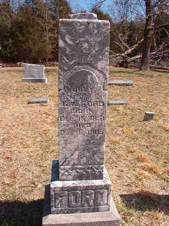 FORD, JULY - Benton County, Arkansas | JULY FORD - Arkansas Gravestone Photos