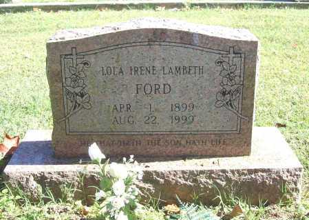FORD, LOLA IRENE - Benton County, Arkansas | LOLA IRENE FORD - Arkansas Gravestone Photos