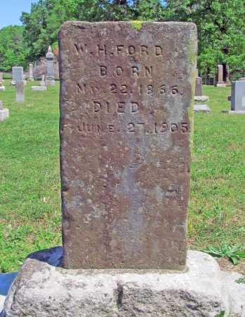 FORD, W H - Benton County, Arkansas   W H FORD - Arkansas Gravestone Photos