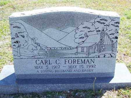 FOREMAN, CARL C. - Benton County, Arkansas | CARL C. FOREMAN - Arkansas Gravestone Photos