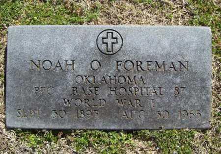 FOREMAN (VETERAN WWI), NOAH O - Benton County, Arkansas   NOAH O FOREMAN (VETERAN WWI) - Arkansas Gravestone Photos