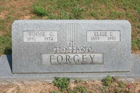 FORGEY, WINNIE G - Benton County, Arkansas | WINNIE G FORGEY - Arkansas Gravestone Photos
