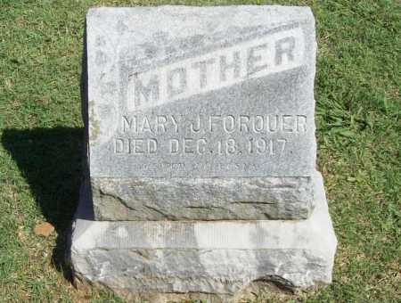 FORQUER, MARY J. - Benton County, Arkansas | MARY J. FORQUER - Arkansas Gravestone Photos