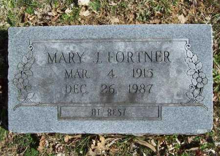 FORTNER, MARY J. - Benton County, Arkansas | MARY J. FORTNER - Arkansas Gravestone Photos