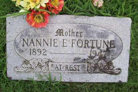 FORTUNE, NANNIE E. - Benton County, Arkansas | NANNIE E. FORTUNE - Arkansas Gravestone Photos
