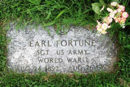 FORTUNE (VETERAN WWI), EARL - Benton County, Arkansas   EARL FORTUNE (VETERAN WWI) - Arkansas Gravestone Photos