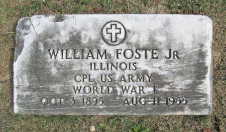FOSTE (VETERAN WWI), WILLIAM JR - Benton County, Arkansas | WILLIAM JR FOSTE (VETERAN WWI) - Arkansas Gravestone Photos