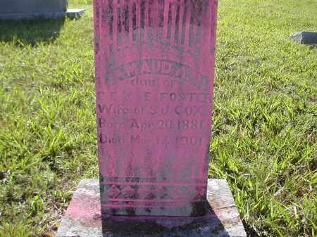 FOSTER COX, MAUD A. - Benton County, Arkansas | MAUD A. FOSTER COX - Arkansas Gravestone Photos