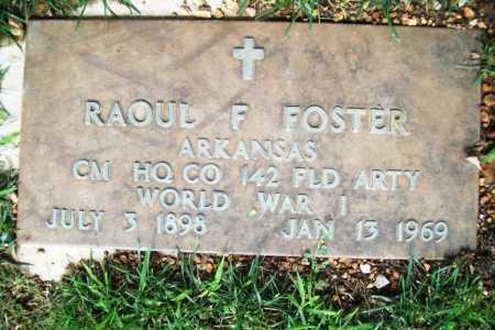 FOSTER (VETERAN WWI), RAOUL F. - Benton County, Arkansas | RAOUL F. FOSTER (VETERAN WWI) - Arkansas Gravestone Photos